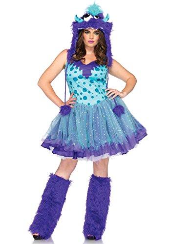 Gogo Kostüm Monster (Leg Avenue 83959X - Kostüm Set Polka Dotty, Übergröße 44,)