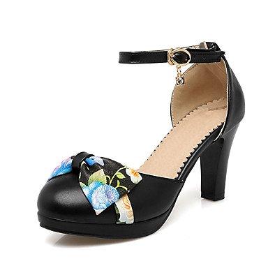 LvYuan Sandali-Ufficio e lavoro Formale Casual-Club Shoes-Quadrato-PU (Poliuretano)-Nero Rosa Bianco Black