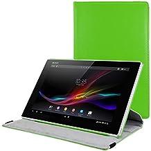 kwmobile Funda para Sony Xperia Tablet Z - Case de 360 grados de cuero sintético para tablet - Smart Cover completo y plegable para tableta en verde