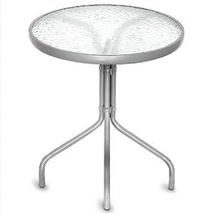 Table d'appoint en verre table de bistrot ronde plateau de verre Ø60 cm