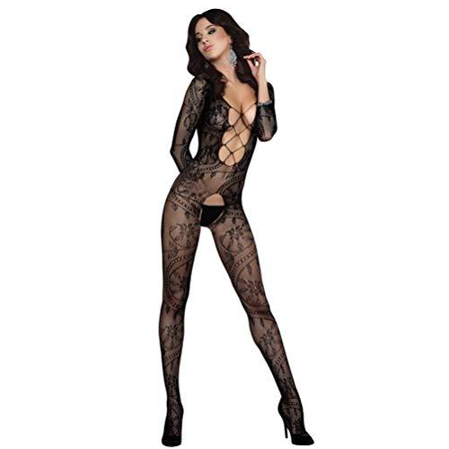 Sexy Schwarze Netzstrümpfe Ouvert Bodystocking Sexy Dessous