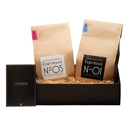 Espresso Geschenk-Set von Coffee858 – Handgerösteter Premium Kaffee – Das Weihnachts-Geschenk...