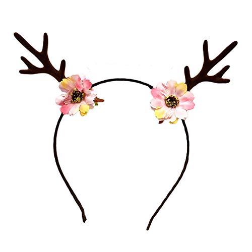 ead Boppers, Geweih Headpiece Ornament Explosion Kind Geschenk Mädchen wilde Kopfbedeckungen, Weihnachten Stirnbänder ()