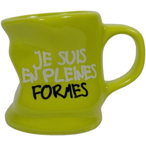 Promobo - Mug Tasse à Café Froissé Design Fun Pleine Forme Vert