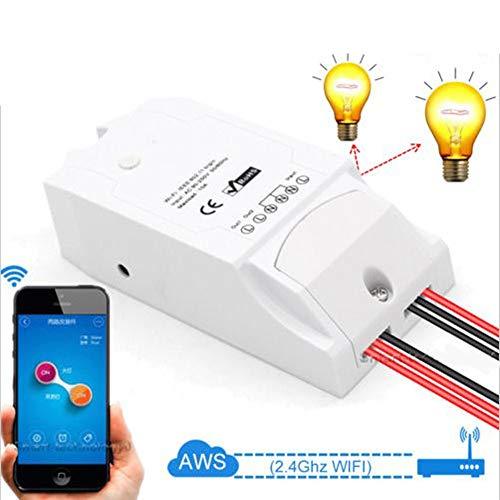 YUEC Wireless-Schalter, Sonoff 2ch WiFi Remote-Timer-Schalter für Lampe/elektrischen Ventilator/Gerät, DIY Smart Home-Schalter über iPhone Android