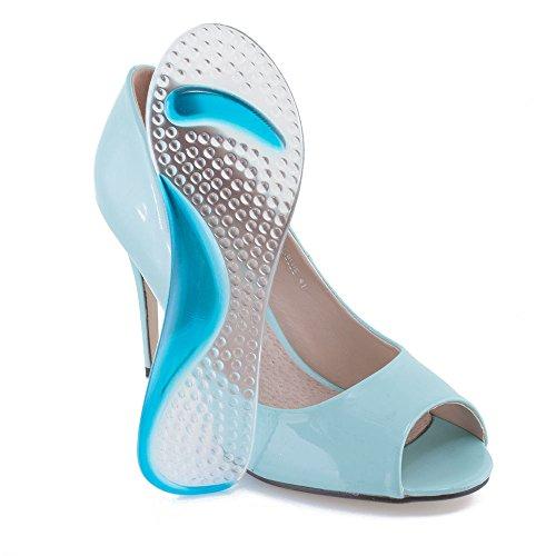 MAROL Soft Gel 3/4 Einlegesohlen Gelkissen Einlagen für High Heel Schuhe Relief
