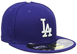 New Era Erwachsene Baseball Cap Mütze Mlb Authentic LA Dodgers 59Fifty Fitted Team Colour, Blau, 6 7/8, 10010260