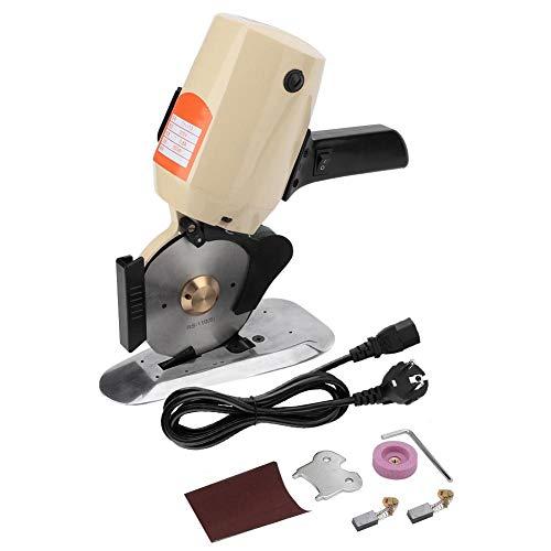 220V / 300W 110mm elektrischer Stoffschneider, rotierendes Blatt-elektrisches rundes Stoffschneider-Gewebe-Stoff-Leder-Wollschneidewerkzeug(EU Plug)