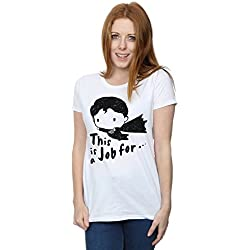 DC Comics mujer Superman This Is A Job For Sketch Camiseta Large Blanco