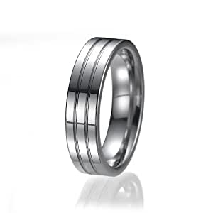 6mm Passform unisex Wolfram Ehering Ring