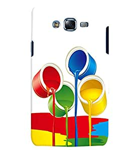 Citydreamz Color Paints/Holi Hard Polycarbonate Designer Back Case Cover For Samsung Galaxy E5