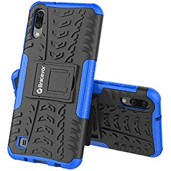 Bracevor Hybrid Back Cover Kickstand Case for Samsung Galaxy M10 - Blue | Rugged Defender
