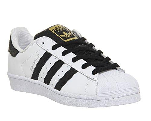 adidas Herren Superstar Niedrige Sneaker weiß/schwarz