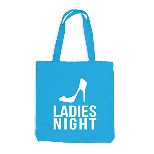 Jutebeutel - Ladies Night - Junggesellenabschied JGA Surfblau