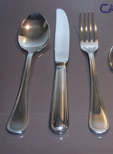 Sambonet Contour Sevizio Couverts 12 pièces (4 cuillères TVA 4 Couteaux TAV 4 fourchettes TAV)