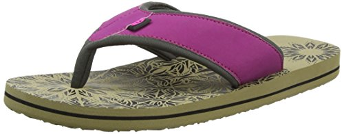Animal Women's Swish Placement Flip Flops, Purple (Damson Purple), 6 UK 39 EU