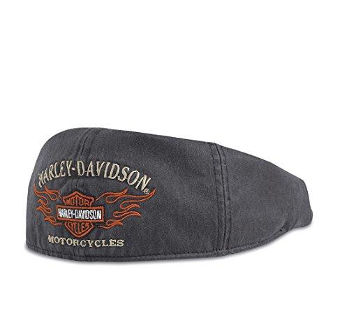 harley-davidson-flame-graphic-ivy-cap-99537-11vm-herren-hat-schwarz-beige-orange-l