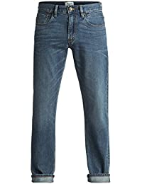 Quiksilver Sequel Medium Blue - Jean regular pour Homme EQYDP03344