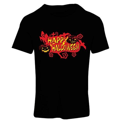 Frauen T-Shirt Owls, Bats, Ghosts, Pumpkins - Halloween outfit full of Spookiness (Large Schwarz - Minecraft Song Halloween