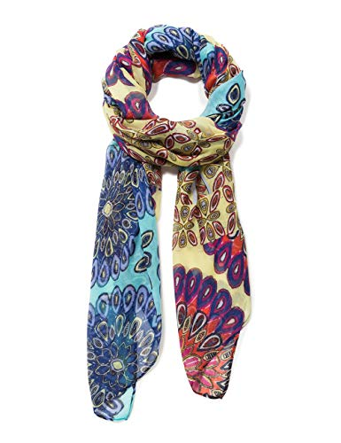 Desigual Rectangle Foulard Interruption Woman Yellow