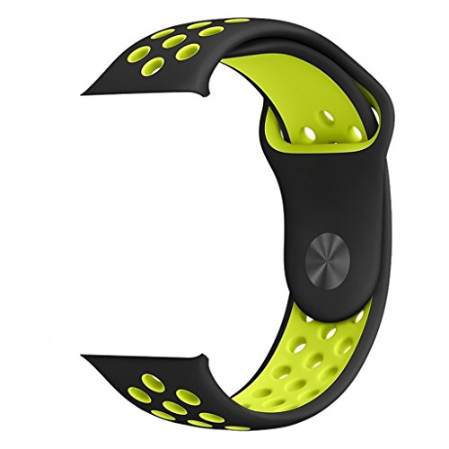 ZRO Smart Watch Correa, Silicona Suave Reemplazo de Banda Sport Band para Apple iWatch Serie 2/ Serie 1 42mm M/L