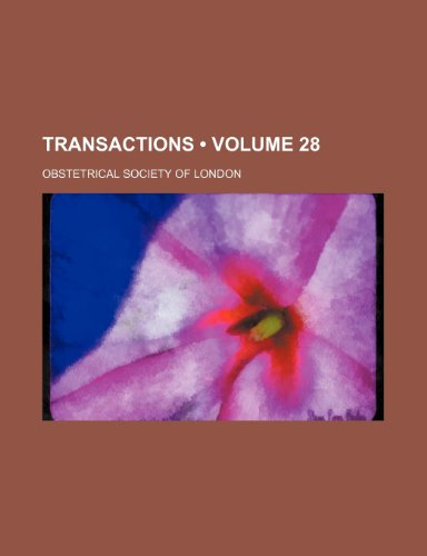 Transactions (Volume 28)