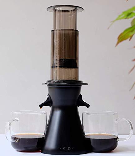 2POUR® Der Neue Dual-Press Zubehör für den Aeropress® Kaffeemaschine, Delter Kaffeebereiter oder Pourover (Black)