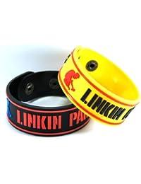 Linkin Park Linkin Park 2pcs nuevo. Pulsera Wrist Band 2x 24A23