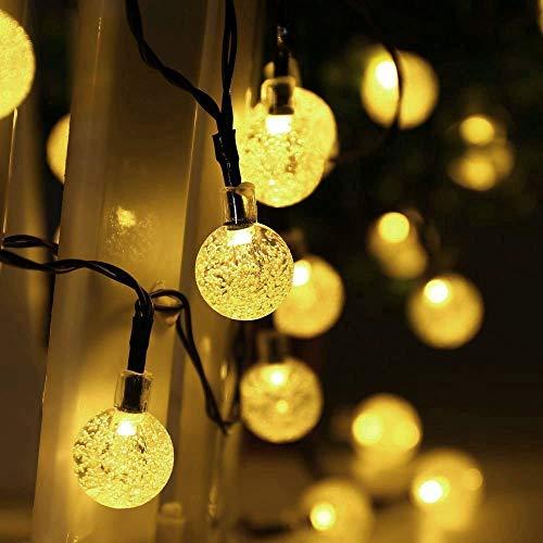Esta cadena luminosa de LED solar es la iluminación óptima para cada jardines de cerveza, el pabellones, carpas de fiestas, salas de fiestas, jardines, balcones, terrazas, o simplemente para la sala de estar y en cualquier lugar que usted está planea...