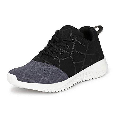 YB BAZAAR Men's Racer Running Shoe Black Gre...
