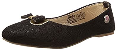 Barbie Girl's Black and Golden Espadrille Flats - 5 kids UK/India (22 EU)