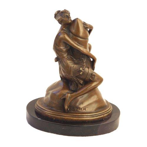 Kunst & Ambiente - Frau am Phallus Figur in Bronze - Bruno Zach - Akt Skulptur - Frau am Penis Statue - Erotik Bronzeskulptur - Sex Deko - Dekoration