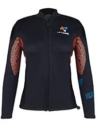 LayaTone Wetsuit Women -Diving Top Premium 3mm Traje de Neopreno Chaqueta  de Traje - Long 7a33f9c23e9b