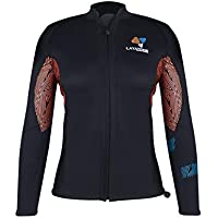 LayaTone Wetsuit Women -Diving Top Premium 3mm Traje de Neopreno Chaqueta de Traje - Long Sleeves Neoprene Traje de Buceo Chaqueta - Wetsuits para Mujeres