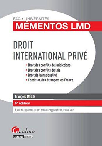Droit international privé, 6ème Ed