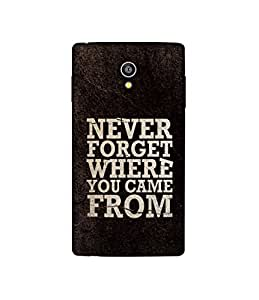 Casotec Thought Design 3D Printed Hard Back Case Cover for Micromax Canvas Fire 4G Q411