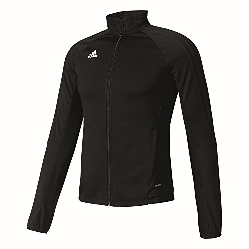 adidas Damen Tiro 17 Trainingsjacke, Black/White, L