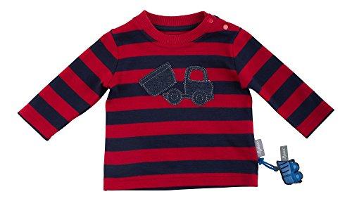Sigikid Baby-Jungen Langarmshirt, Rot (Tango Red 143), 92