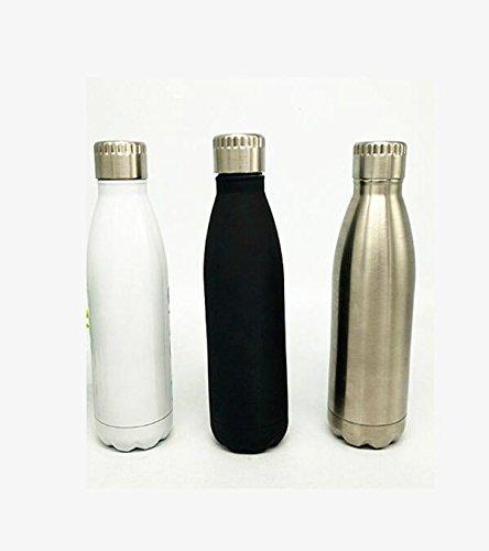 Seal Bier (Edelstahl-Isolier-Cup-Koks-Flaschen-Isolierungs-Schalen-Bowling-Schale ( Color : Black ))