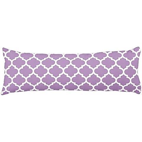 Cuscino Violette africane Quatrefoil