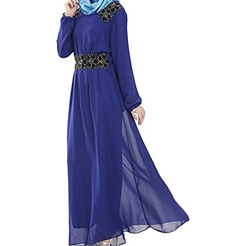 Highdas signora musulmana grande vestito vita oscillazione