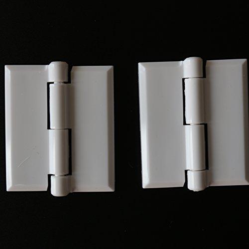 2 x Bisagra de piano continua de acrílico plástico BLANCO, 38mm x...