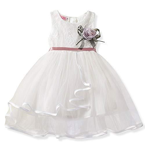 JUTOO (12M-5Years Vestido de Princesa Vestido de Princesa Vestido de Malla sin...