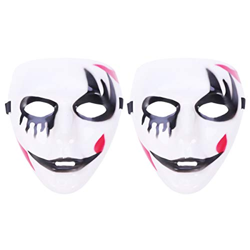 Amosfun 2 stücke Halloween todesmaske Maskerade tänzer Cosplay Maske kostüm - Tänzer Halloween Kostüm