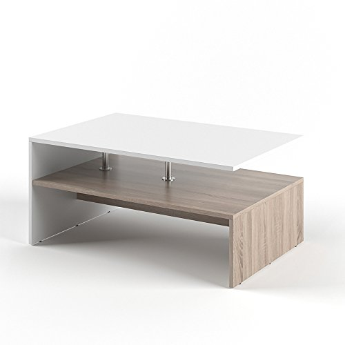 VICCO Couchtisch Amato 90 x 60 cm - Wohnzimmertisch Beistelltisch Holztisch Kaffeetisch - 3 Farben zur Auswahl (Weiß Sonoma Eiche) -