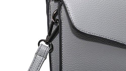 FZHLY 2017 Autunno Nuovo Grande Capacità Bag Busta,Black Beige