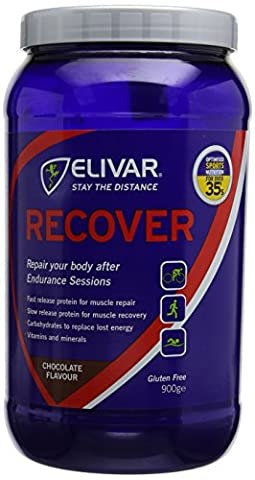 Elivar 900g Chocolate Flavour Recover Post Training Energy and Protein Recovery Drink Mix