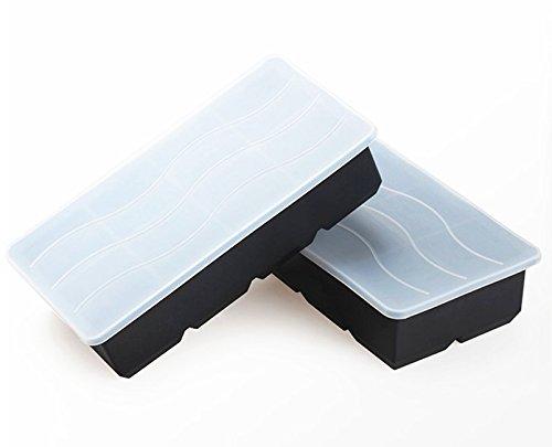 2er Pack Xxl Eiswrfelform Fr Je 8 Riesige Eiswrfel Mit Deckel 5 X 5 X 5 Cm Groe Jumbo Eiswrfel 16 Eiswrfel Ohne Zu Verschtten Silikonform Ohne Bpa