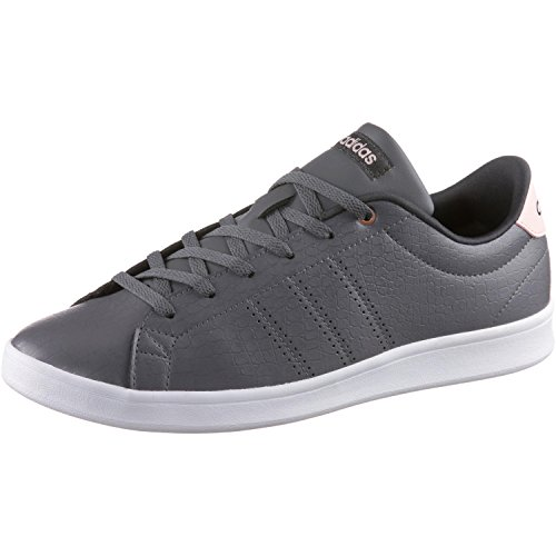 adidas Advantage Cl Qt W, Chaussures de Running Femme Gris (Grey Four/Grey Four/Utility Black)