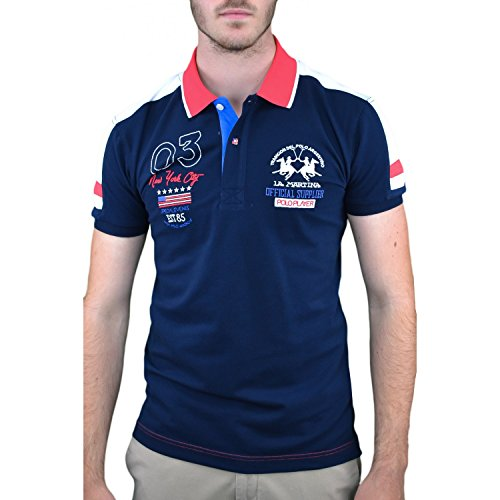 La Martina Herren Slim Fit Ellery Polo-Shirt XXXL Blau (Navy 7017)